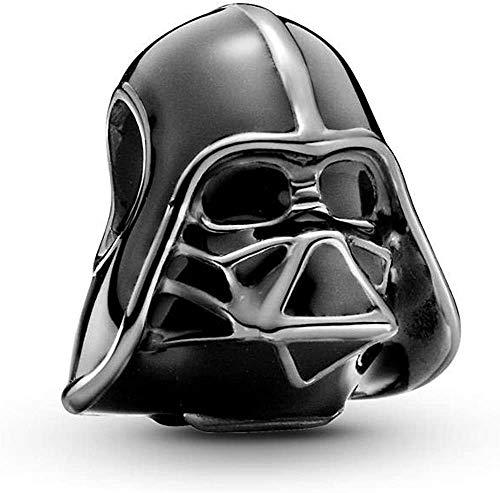 Annmors Darth Vader Charm-Anhänger 925 Sterling Silber Charm Bead für Chamilia und europäische Armbänder und Halsketten