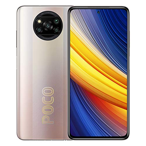 Xiaomi Poco X3 Pro 4G LTE GSM Pro Global Unlocked Gamers (8GB + 256GB) 6.67 inch Dual SIM Quad Camera 48MP Quad Camera (NOT Verizon/Boost) (Metal Bronze)