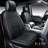Coverado Front and Back Seat Covers 5 Pieces, Waterproof Leather...