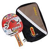 GKI Euro V Table Tennis Racquet (Multicolor)