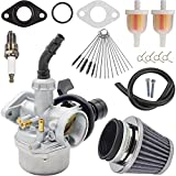 ZAMDOE Carburador PZ19 para 50cc 70cc 80cc 90cc 110cc 125cc ATV Pit Dirt Bike Go-Karts Scooter (para Kazuma, para SRF, para Honda, para Quad chino ATV de 4 tiempos) con filtro de aire