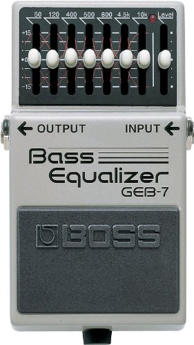 BOSS Seven-Band Graphic Bass Equalizer Guitar Pedal (GEB-7)
