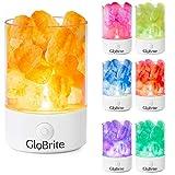 GloBrite - Lámpara de sal de roca con cristales que cambian de color, crea una atmósfera...