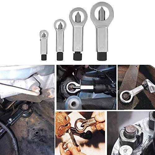 Yiwa Handgereedschap, 9-27 mm, groefsplinterverwijderaar, verwijderaar, gereedschap voor het verwijderen van roest, verwijderaar voor beschadigde schroeven, reparatiegereedschap, 4#(22-27mm)