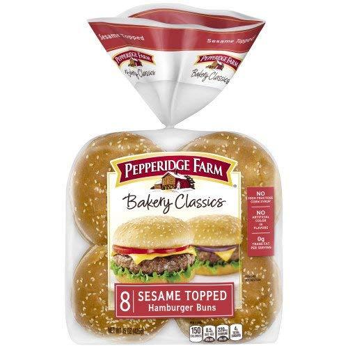 PEPPERIDGE FARM HAMBURGER SANDWICH BUNS WITH SESAME SEEDS 8 CT by Pepperidge Farm