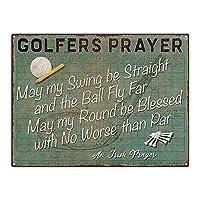 ゴルファーの祈りゴルフゴルフゲーム壁の金属のポスターレトロなプラーク警告ブリキのサインヴィンテージ鉄の絵画の装飾バーガレージカフェのための面白いハンギングクラフト