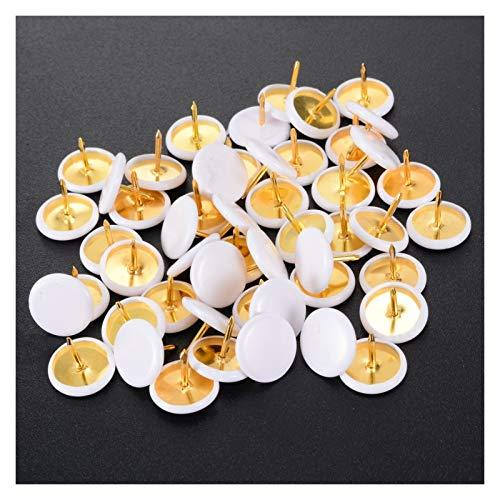 love lamp Chiodi 50pcs Bianco Perni Pollice Puntina aderenze Pins Consiglio for Ufficio Scolastico Bacheca Parete Borchie Cork Cartone Ferramenta