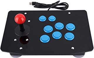 Hakeeta USB Universal Arcade Game Controller Board with Arcade Game Rocker and 8 Buttons, Retro Classic Street Fight Game Controller Board