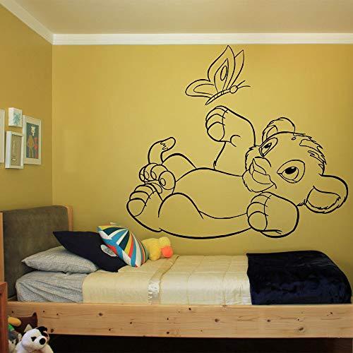 Film de bande dessinée drôle de décalque de papillon d'autocollant du roi lion Simba pour des meubles pour des murs en rouleaux