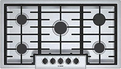"Bosch 500 Series 36"" Stainless Steel 5 Burner Gas Cooktop"