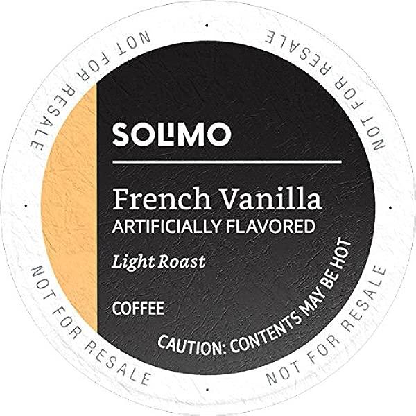 亚马逊品牌 100 Ct Solimo 轻烤咖啡豆荚法式香草口味兼容 Keurig 2 0k 杯酿酒师