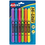 Avery 23585 Hi-Liter Pen-Style Highlighters, Smear Safe Ink, Chisel Tip, 6 Assorted Color Highlighters