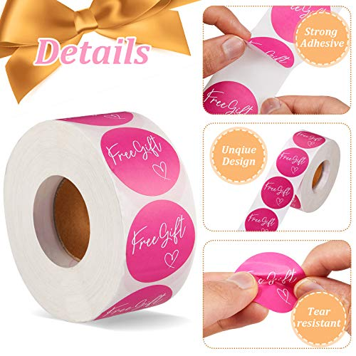 1000 Pieces Customer Appreciation Stickers Small Business Sticker Roll Round Self-Adhesive Stickers Labels for Packing Mailing Envelopes Postcards, 1.5 Inch (Pink Background) Photo #6