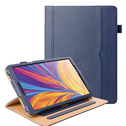 ZoneFoker Galaxy Tab A 10.1 inch 2019 Tablet Leather Case, 360 Protection Multi-Angle Viewing Folio Stand Cases with Pencil Holder for Samsung Galaxy Tab A 10.1 SM-T510/SM-T515 - Blue