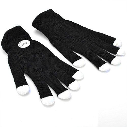 TOOGOO(R) 7 Mode LED Rave Licht Finger Beleuchtung Blink Gluehen Handschuhe Schwarz