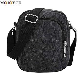 Casual Canvas Travel Handbag Vintage Men Solid Color Zipper Pack Simple Sling Shoulder Crossbody Bags Bolsa