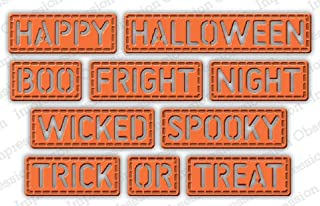 Impression Obsession DIE763YY Halloween Stitched Words Steel Craft Die