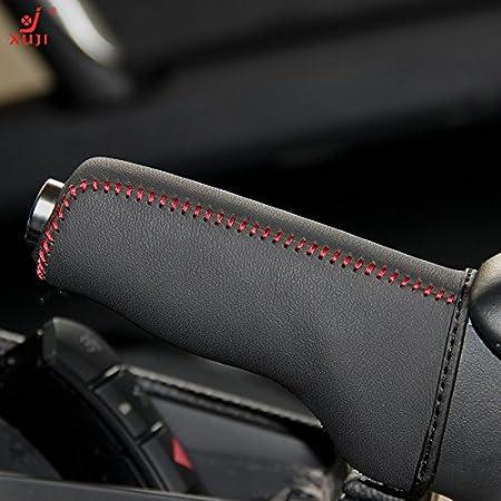 FINE MEN WYX-SSGAI Top Genuine Leather Case For Handbrake Cover For Mazda 3 Hand Brake Cover Nappa Leather Cover Handbrake Auto Color Name : Black