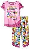 Hatchimals Girls' Little 2-Pc Pajama Set, Long Sleeve W/Pant, Pink/Print, 10-12