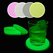 Nesee Luminous Silicone Insulated Coffee Place Mat Reusable Non-Slip Button Coaster Cup Glass Drink Coasters for Coffee Cup, Wine Glass, Beer Bottle
