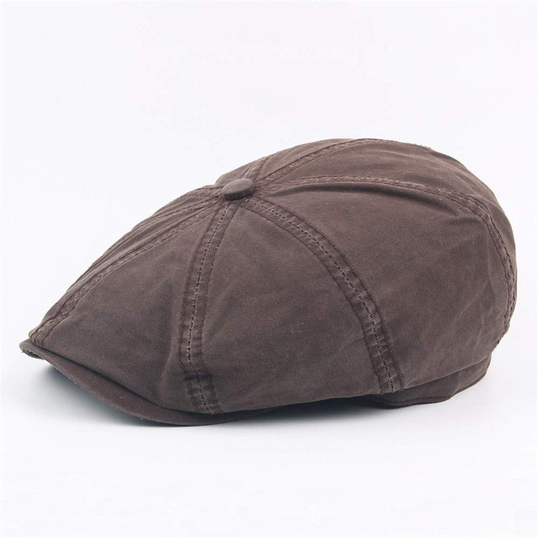 Cotton Octagonal Cap, Cap Beret, Retro Casual hat, Outdoor Sun Visor, Men's and Women's Flat caps,A