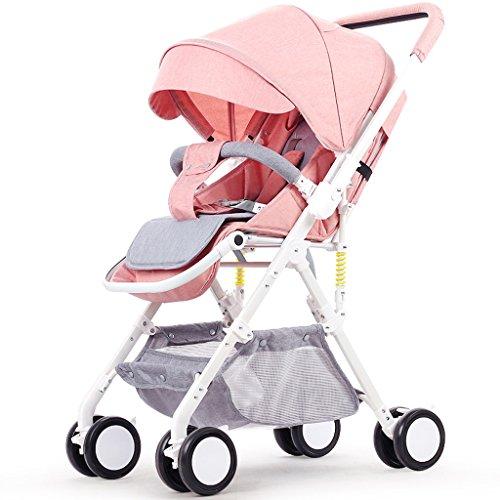 Sillas de Paseo Cochecito de bebé Cochecitos de bebé para niños de Moda, Carro de bebé portátil Alto Paisaje Simple, Cochecito de bebé para niños bebé Ligero de un Enlace, Silla de bebé para Sentarse