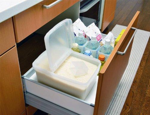 トンボ米びつ引き出し・冷蔵庫用7型