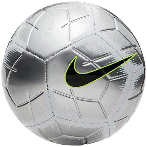 Nike Strike - Balón de fútbol, 4, Plateado/Blanco