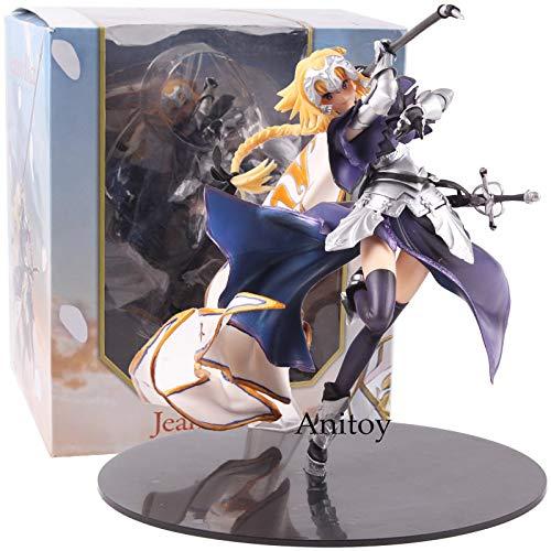 Yvonnezhang Fate Grand Order Jeanne D'Arc Figura Regla PVC Anime Destino Apócrifa Regla Juana de Arco Figura de colección Modelo Juguete 20 cm