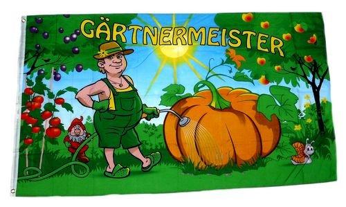 Fahne / Flagge Gärtnermeister Gartenfahne 90 x 150 cm