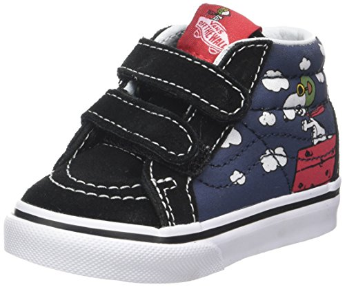Vans Toddlers Sk8-Mid Reissue V (Peanuts) Flying Aces/Dress Blues VN0A348JOHK Toddler 4.5