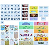 Classroom Calendar Pocket Chart Cards Numbers Days Months and Years Headlines 2020 Calendar Kit Bulletin Board Set