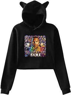 Woman`s Cat Ear Hoodie Sweater Chris Brown F.A.M.E. Lumbar Pullover Hoodies