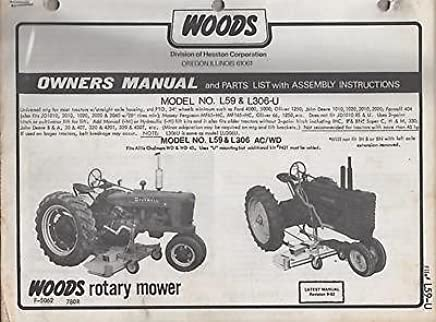 Woods L306 Manual Books