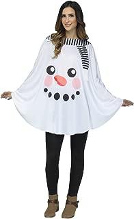 Snowman Poncho Adult Costume