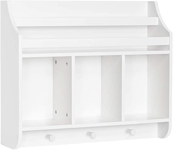 RiverRidge Home 02 164 Book Nook Collection Kids Cubbies And Bookrack Wall Shelf White