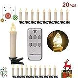 20 Stk Kerzen; Weihnachtskerzen Maß:Ø18 mm / 10 cm;Spannung: 1,5 V (AA Batterie) für die Kerze Farbe der Kerzen: Beige; Farbe der Licht: Warmweiss; bis zu 180 Stunden Leuchtkraft mit einer Batterie Standby bis zu 100 Tage verschiedene Lichteffekte: k...