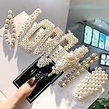 Prendedores para el cabello con perlas, 8 pcs. Perlas artificiales para el cabello. Perlas decorativas para el cabello. Accesorios para el cabello hechos a mano para niñas y mujeres,StyleSet2
