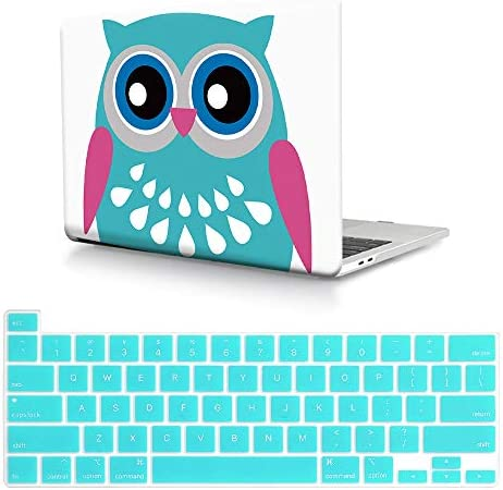 HRH 2 in 1 OWL Design PC Plastic Hard Case Cover and Silicone Keyboard Cover for MacBook Pro product image