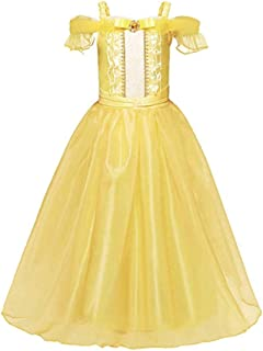Yalla Baby Girls Dress Costume for Kids Girls Princess Dress Up - 90-140 cm 3-12 Years Birthday Party Cosplay Outfits