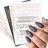 Line Nail Art Stickers Decals Metal Line Nail...