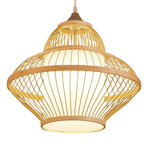 WFZRXFC Japonés japonés de Doble Capa candelabro Creativo Personalidad Suspender luz Restaurante Ropa Tienda Dormitorio lámpara Colgante Natural protección Medio Ambiente Colgante luz