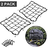 2 Pack of 15.7'x15.7' Bungee Cargo Net Stretches to 30'x30' Elastic Motorcycle...