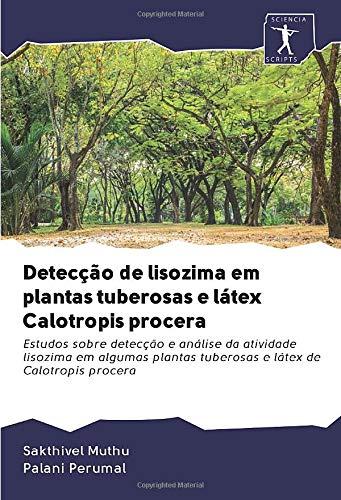 Detecção de lisozima em plantas tuberosas e látex Calotropis procera: Estudos sobre detecção e análise da atividade lisozima em algumas plantas tuberosas e látex de Calotropis procera
