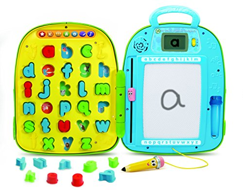 LeapFrog 603403 Mr Pencil's Alphabet Backpack Interactive Learning Toy Educational Baby LCD Screen Letters and Sounds for Toddlers and Kids Boys and Girls from 2, 3, 4 Years, Multi-Colour, One Size