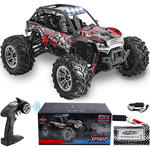 HisHerToy 4WD RC Trucks for Adults IPX4 Waterproof RC Cars High Speed Remote Control Cars 4x4 for Boys Girls 1:16 / 36km/h Off Road RC Vehicles for Kids Monster Truck Buggy Rock Crawler with Headlight