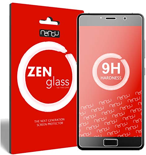 nandu I ZenGlass [2-Pack] Flexible Glass Film compatible with Lenovo P2 I Screen Protector 9H I (Smaller than the curved display)
