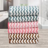 Ravsons Luxury Microfiber Hand Towels, Super Absorbent, Ultra-Soft, Fade Resistant, Pack of 6(Pink,Blue,Brown)