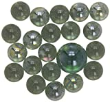 Simba Nostálgicos Juguetes, 20 canicas piezas de vidrio (15 mm) más 1 'Rey de mármol' (25mm) Set, color/modelo surtido, im Netz-107408768