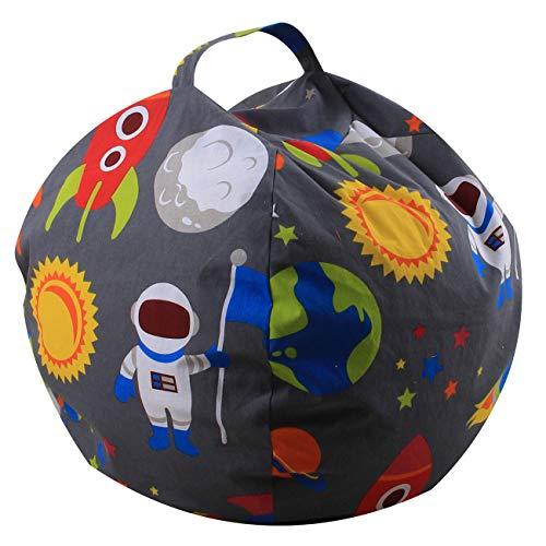 THEE Spielzeug Aufbewharungstasche Streife Sitzsack Aufbewahrung Beutel Lagerung (38 inch, Weltraum)